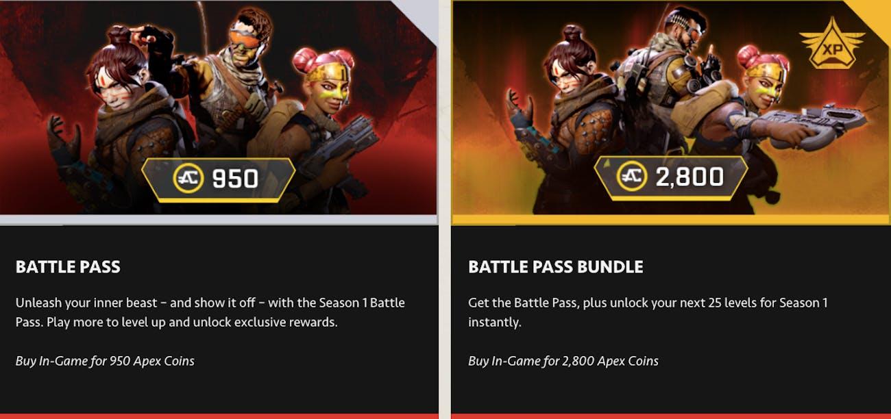 Apex Legends Battle Pass Cost