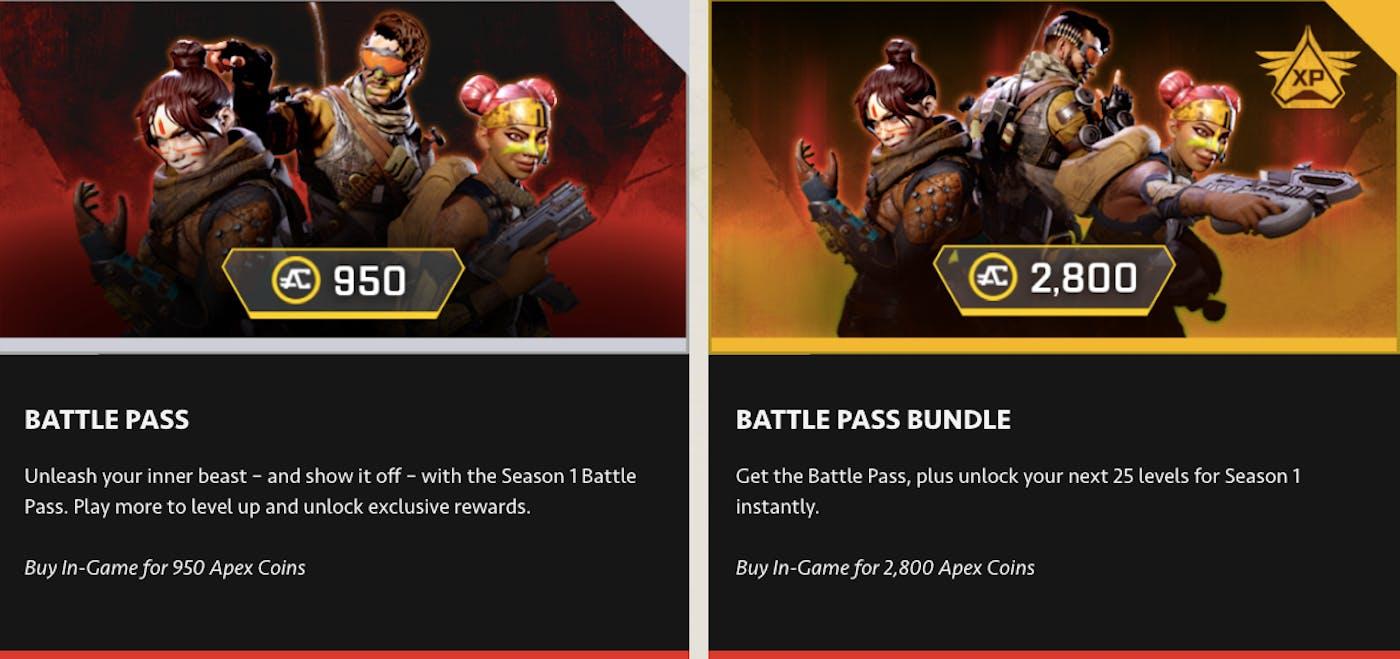 Apex Legends' Season 1 Battle Pass, Start Date, Challenges, Cost