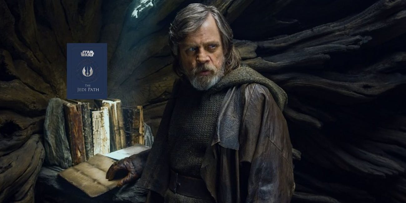 If this book were 'real' in the Star Wars universe, it would still be in Luke's mini library.