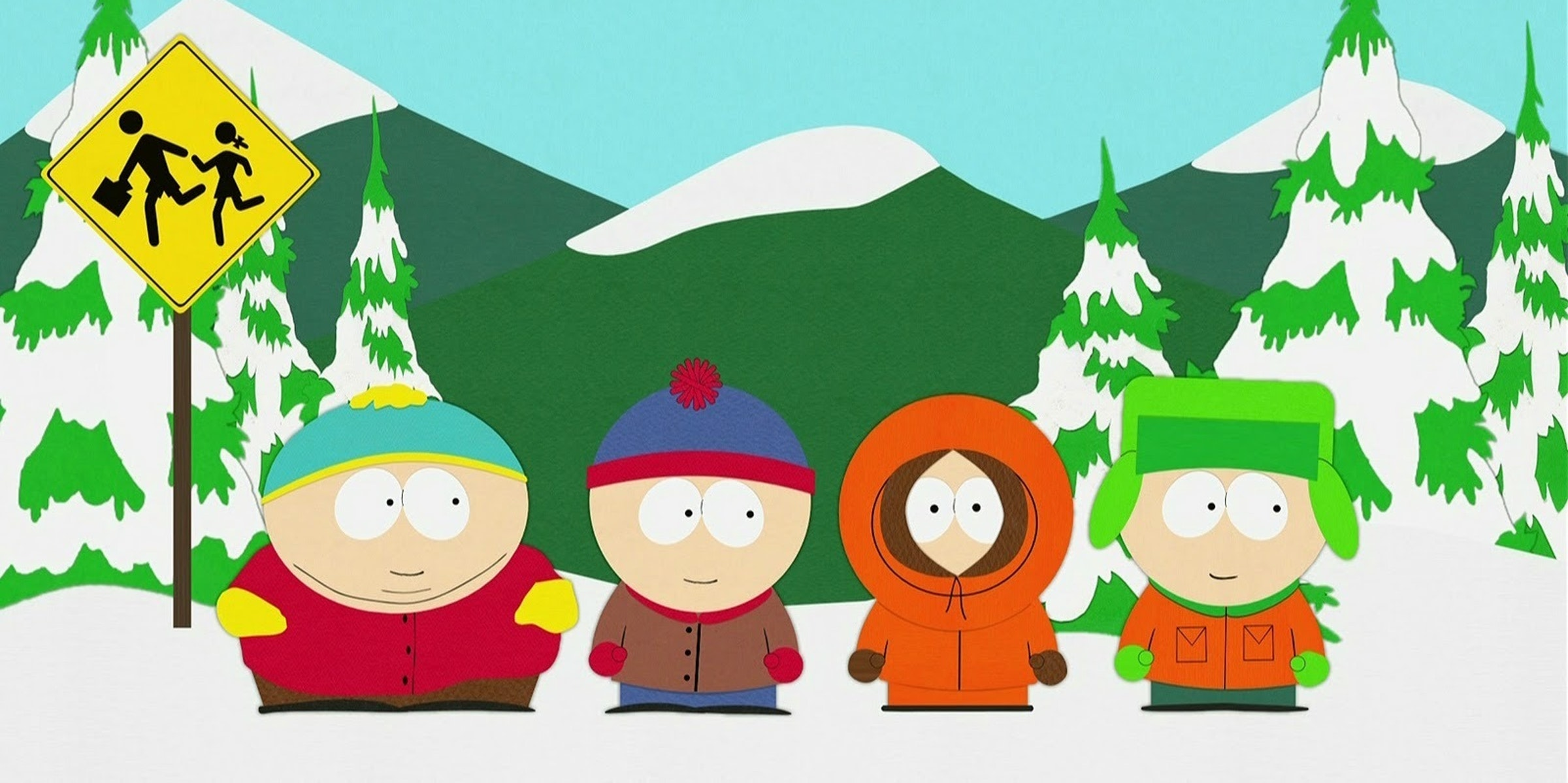 Stan, Kenny, Kyle, and Cartman