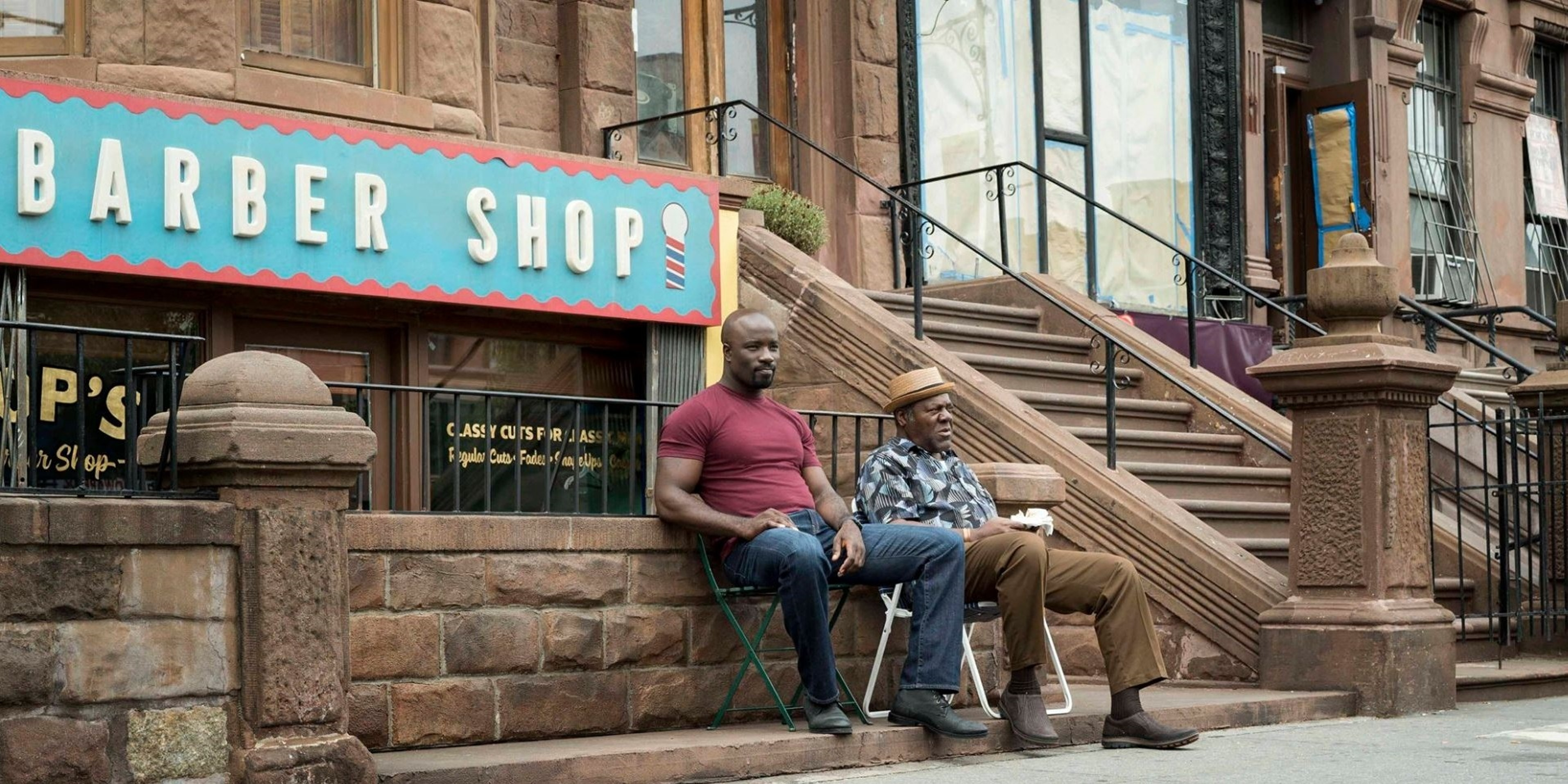 Pop's Barber Shop Luke Cage Netflix