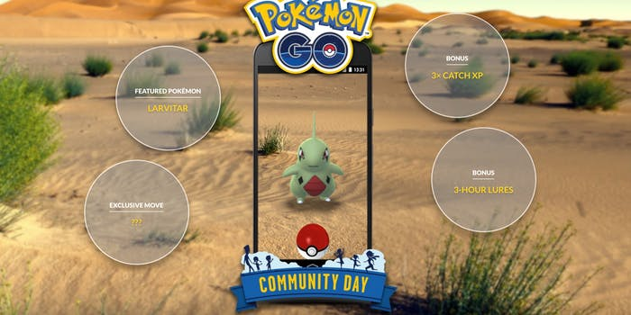 Pokemon GO Larvitar Community Day