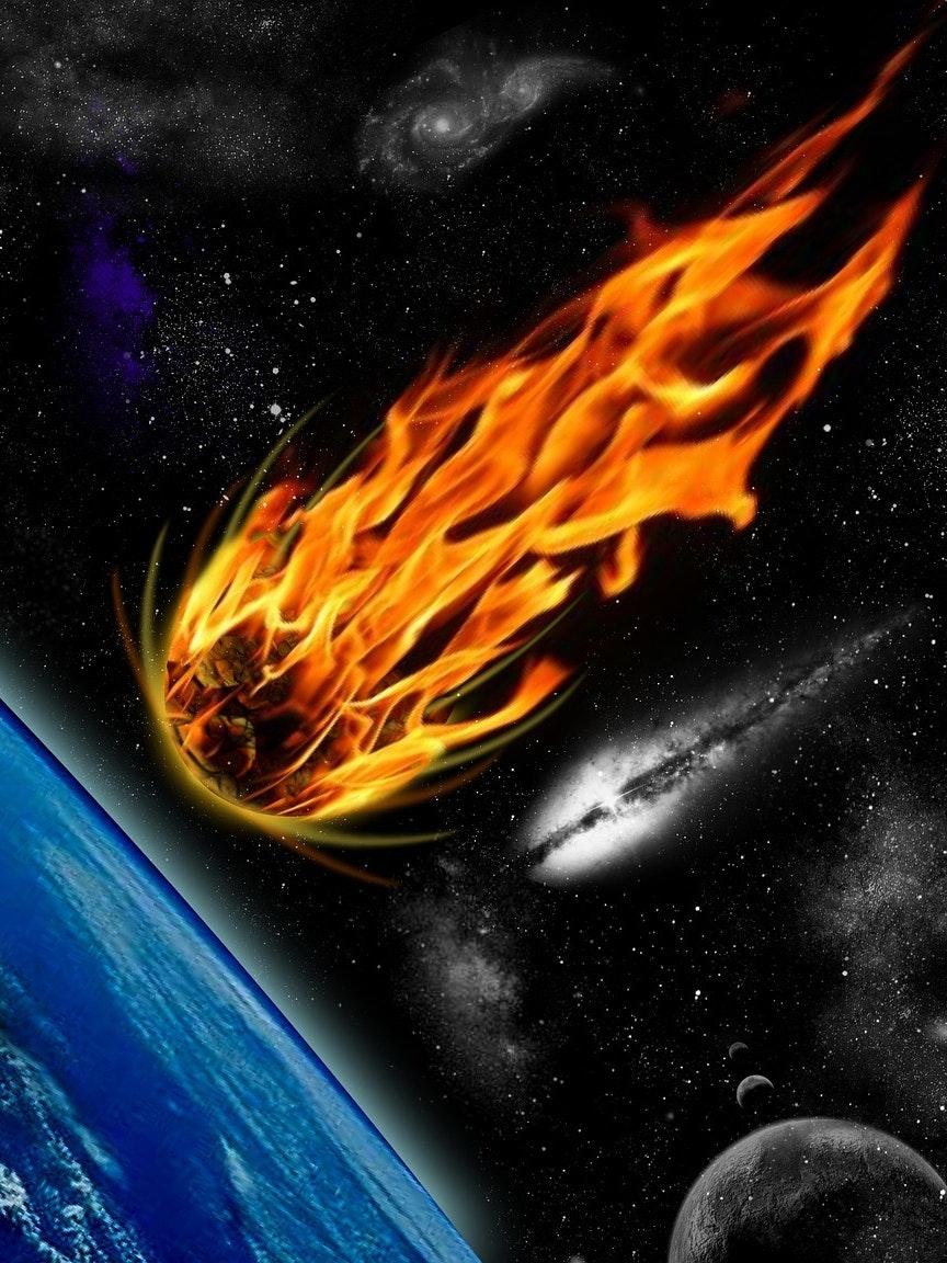 comet earth impact