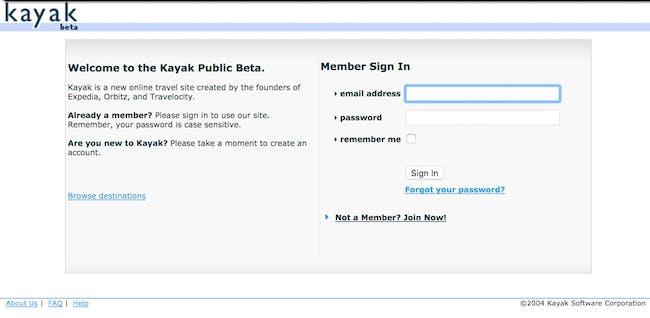 Kayak Public Beta