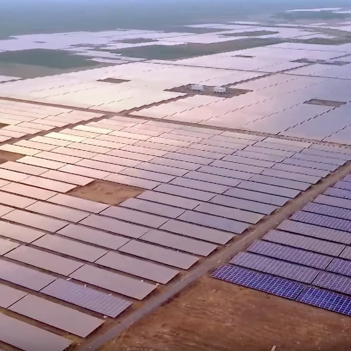 Photos Show the World's Largest Solar Plant in India