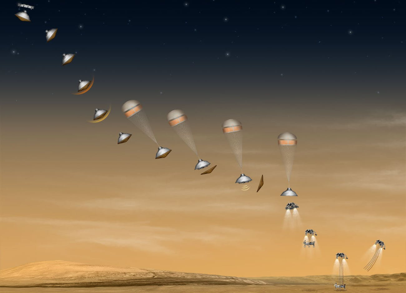 Mars entry descent landing