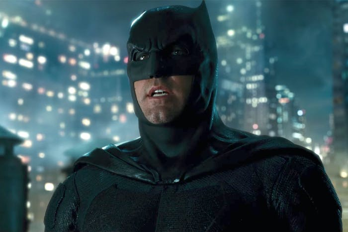 The Batfleck in 'Justice League'.