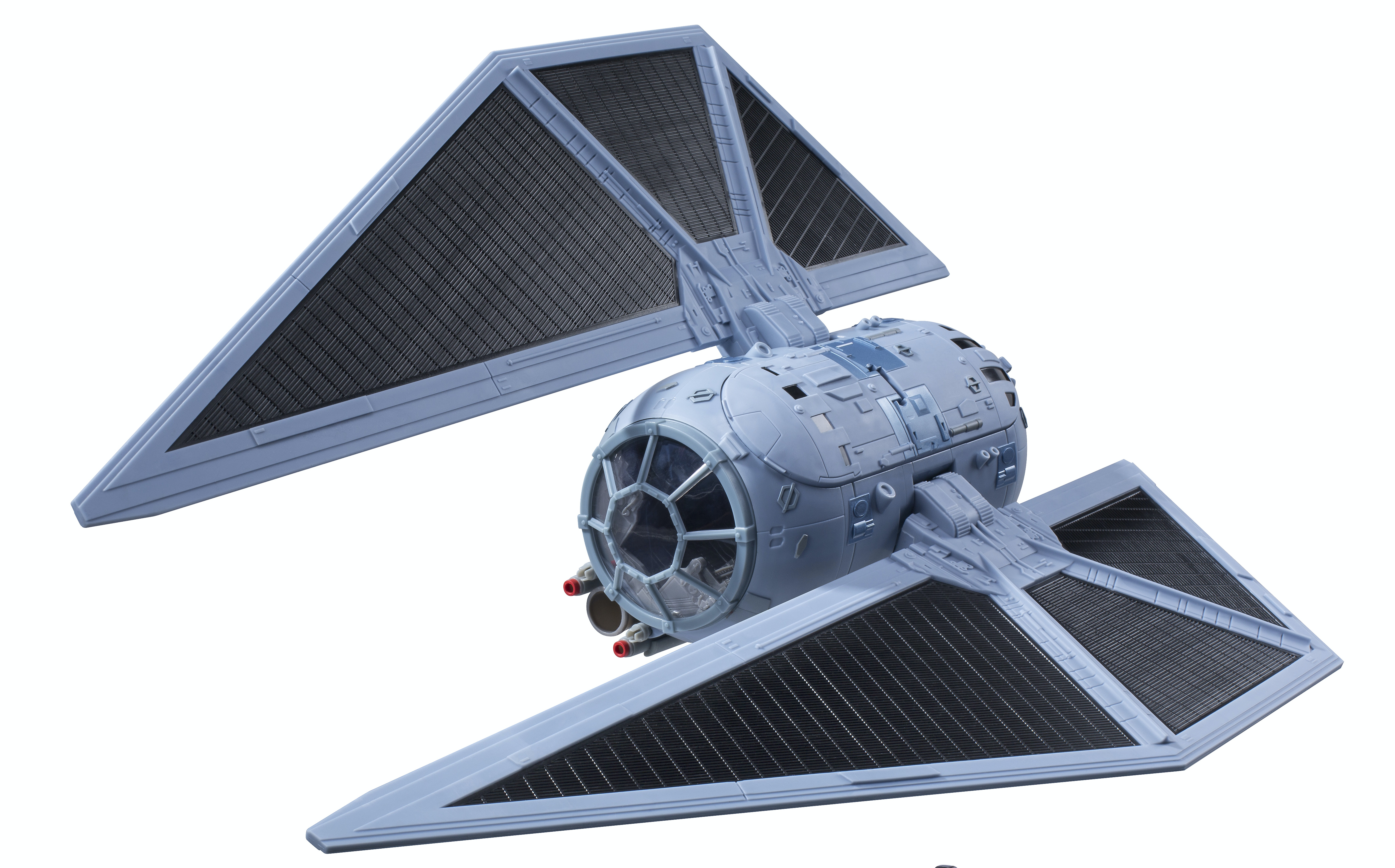 We haven't seen the TIE Striker in any footage yet, so we'll have to settle for the toy version.