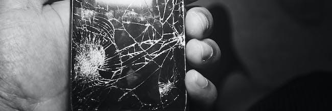 cellphone cracked