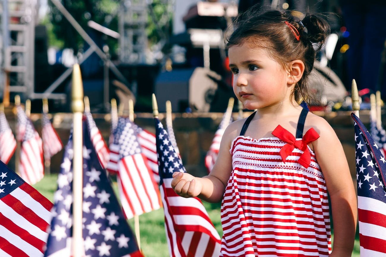 One young American at Kaboom Town.