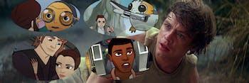 Luke Skywalker sees the past an the future in 'Star Wars'