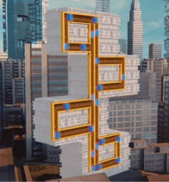 Magnetic elevator goes wherever ropeless design