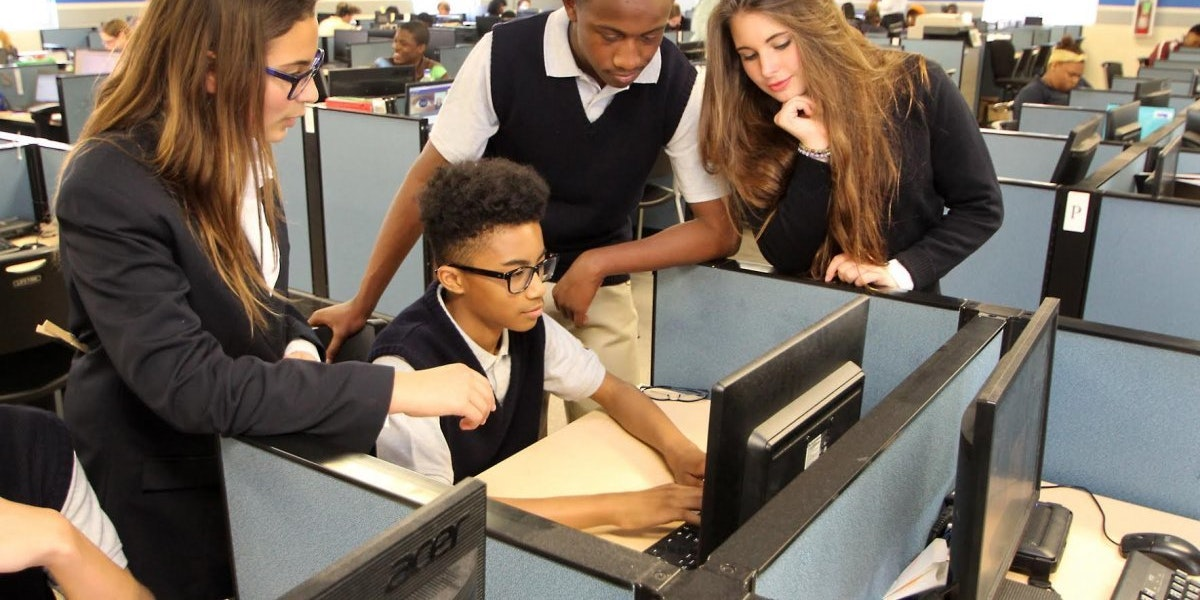 Office style school education futuristic carpe diem school business learning