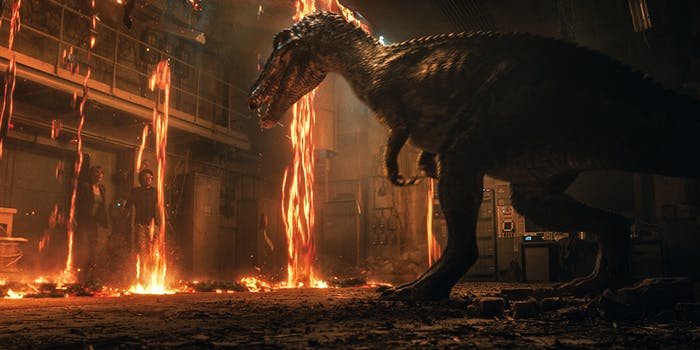 'Jurassic World: Fallen Kingdom' has lots of destruction.