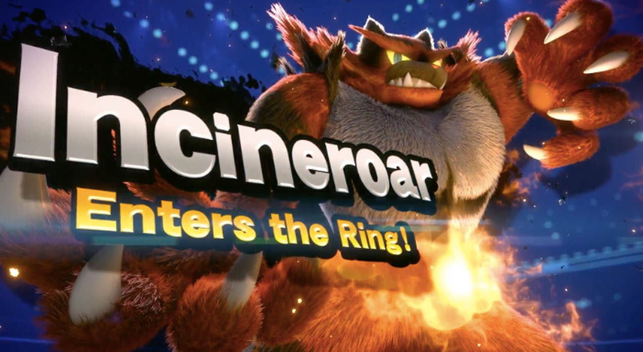 smash ultimate Incineroar roster