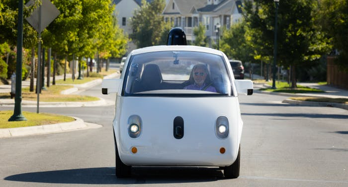 Google's Waymo is a self-driving, all electric vehicle.