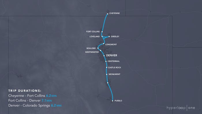 The Colorado route.