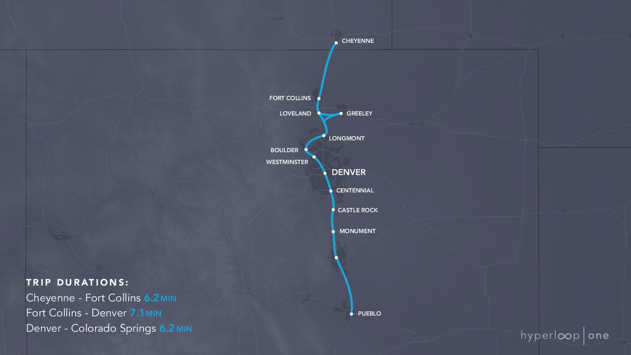 The Colorado route.