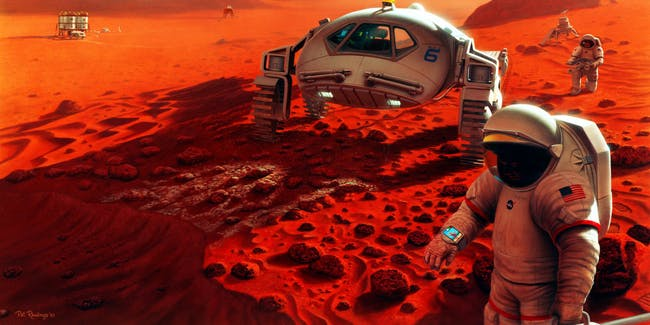 Artist's conception of NASA's Journey to Mars mission.