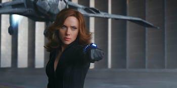 Black Widow in 'Captain America: Civil War'.