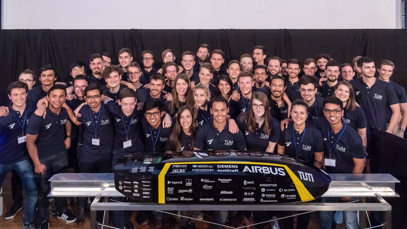 TUM Hyperloop with their pod.