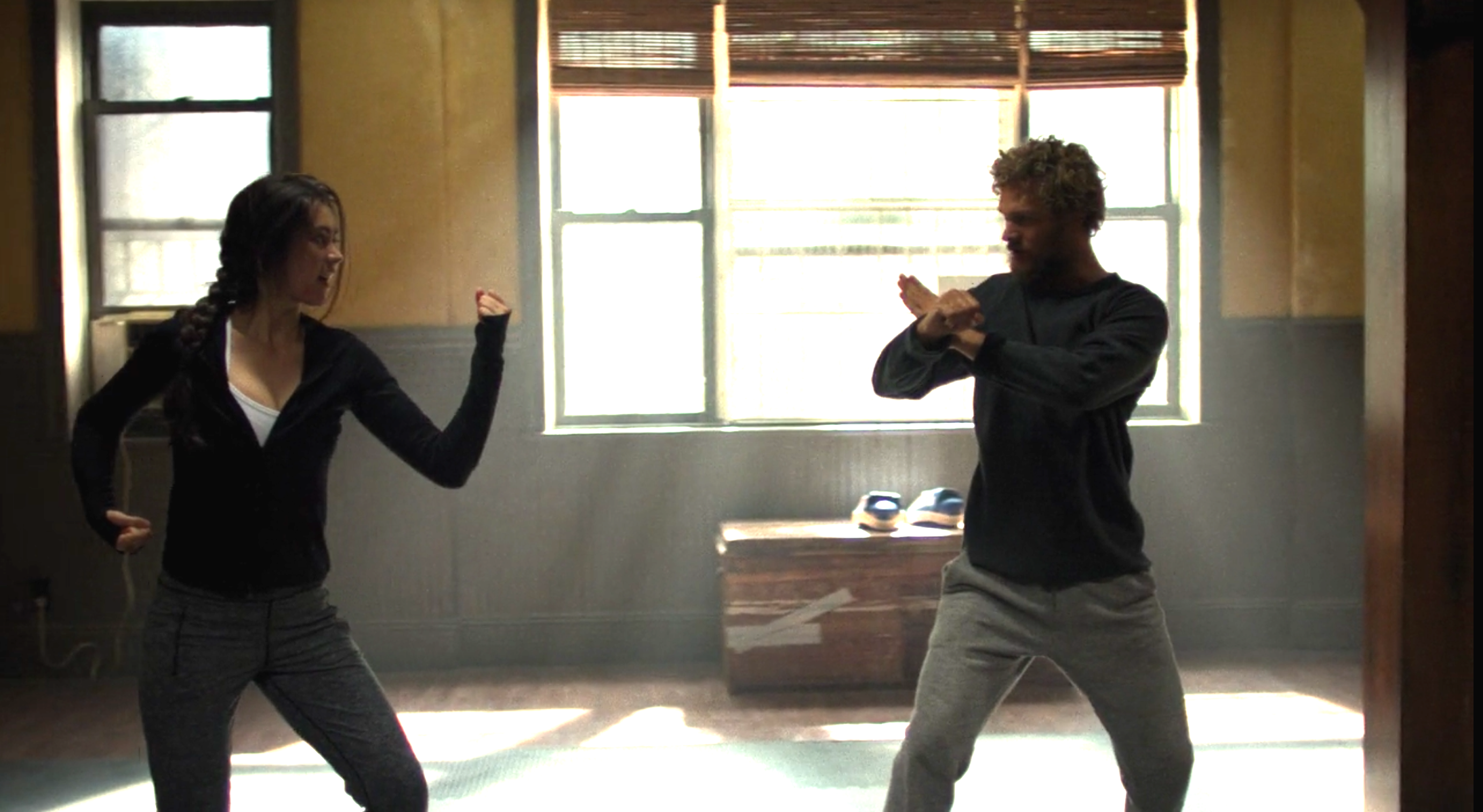 Jessica Henwick as Colleen Wing and Finn Jones as Danny Rand in 'Iron Fist