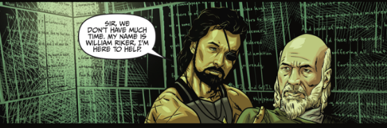 Riker in his 'Escape from New York' getup in new comic 'Star Trek: Deviations.'