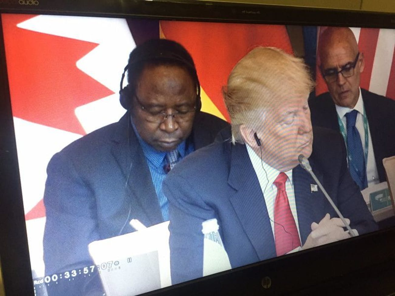 Trump earpiece in