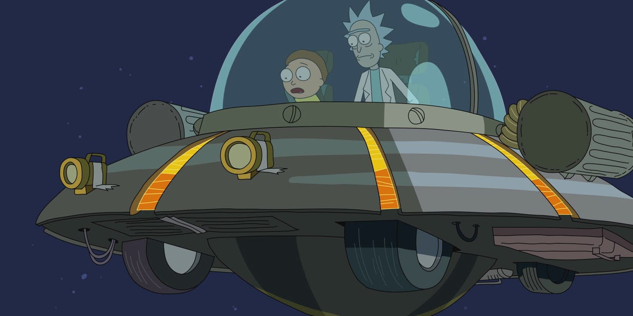 rick and morty rick's ship