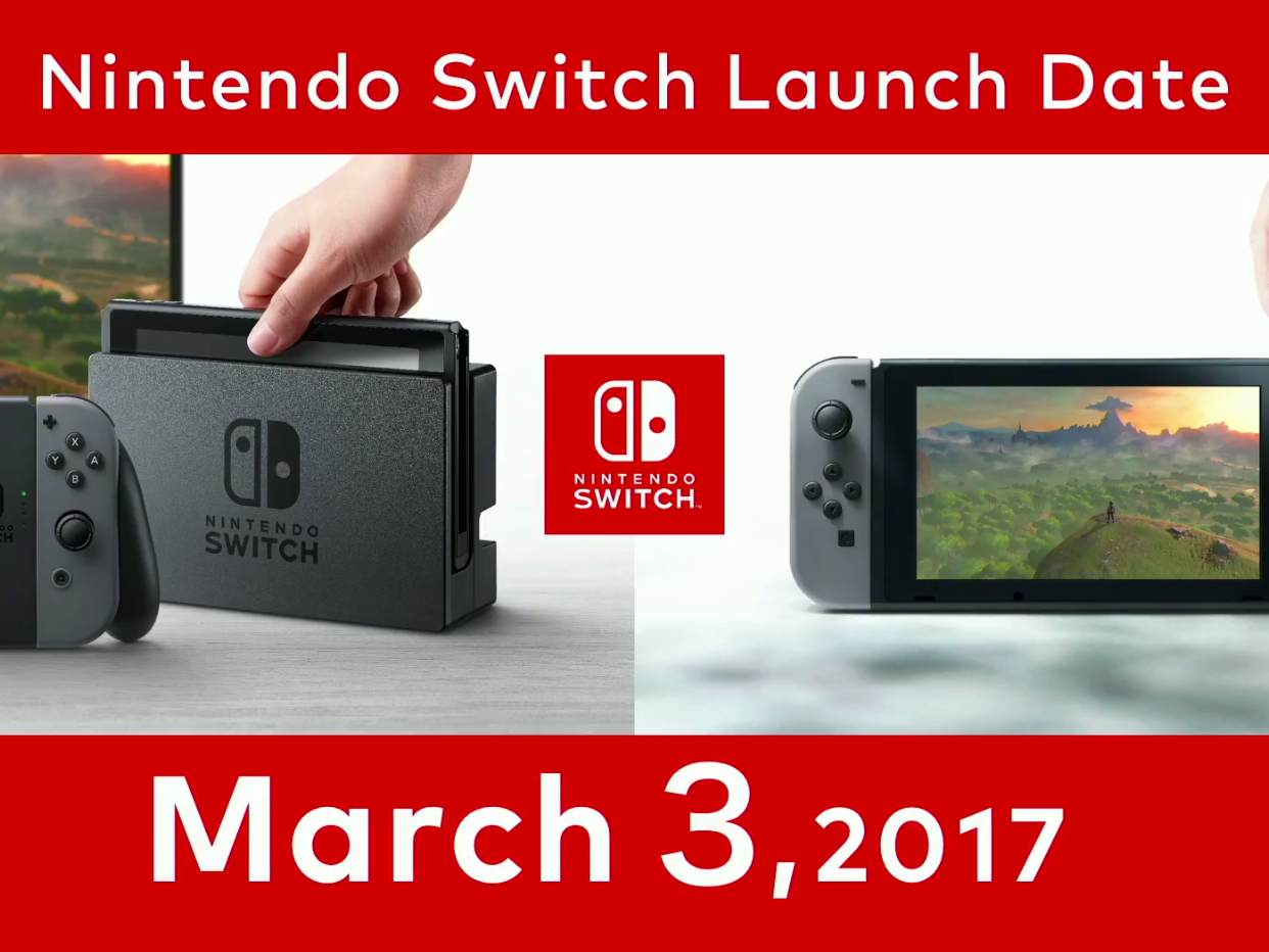 Image result for nintendo switch release