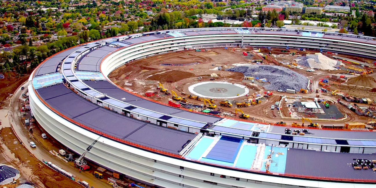 New Drone Footage Of Apple HQ Shows Massive Solar Panel Adorned Spaceship