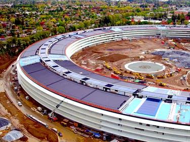 "New Drone Footage of Apple HQ Shows Massive, Solar Panel–Adorned ""Spaceship"""