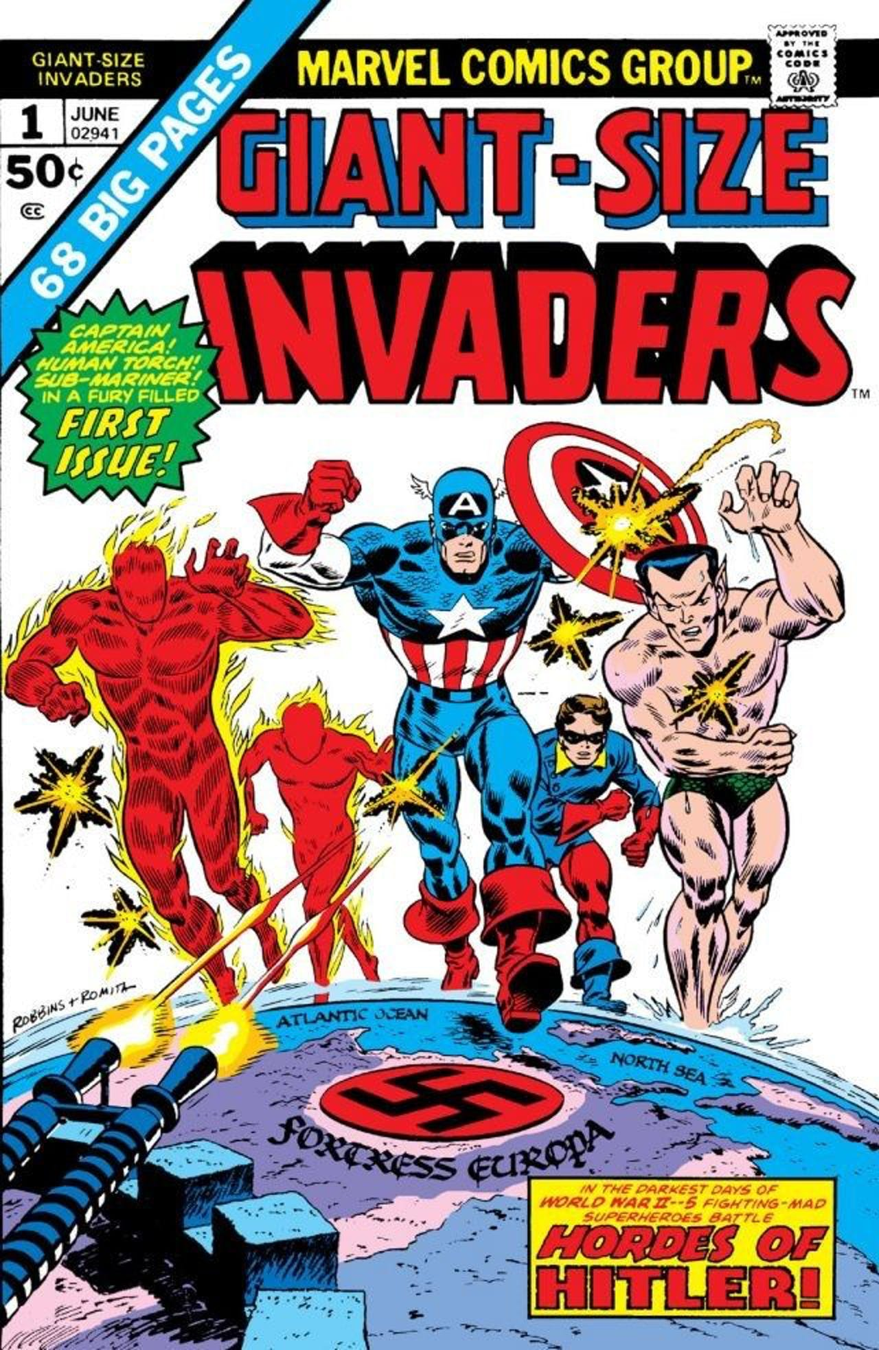 Invaders Namor Captain America