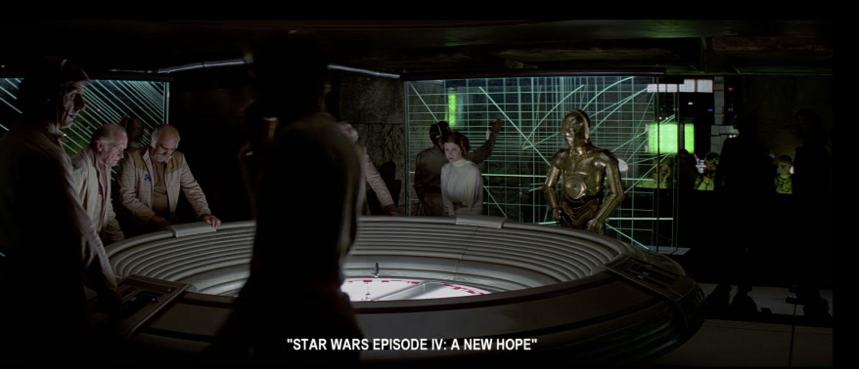Yavin briefing room in 'Star Wars Episode IV: A New Hope'