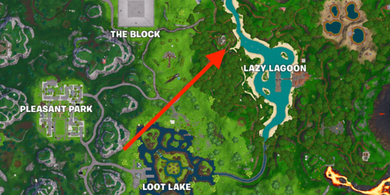 Fortnite Week 6 Discovery Hidden Banner location map