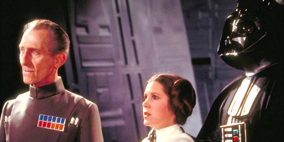 Cushing and Fisher as seen in the original Star Wars.