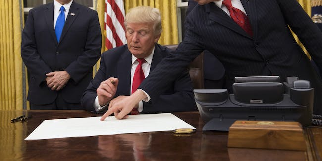 Trump signing executive orders