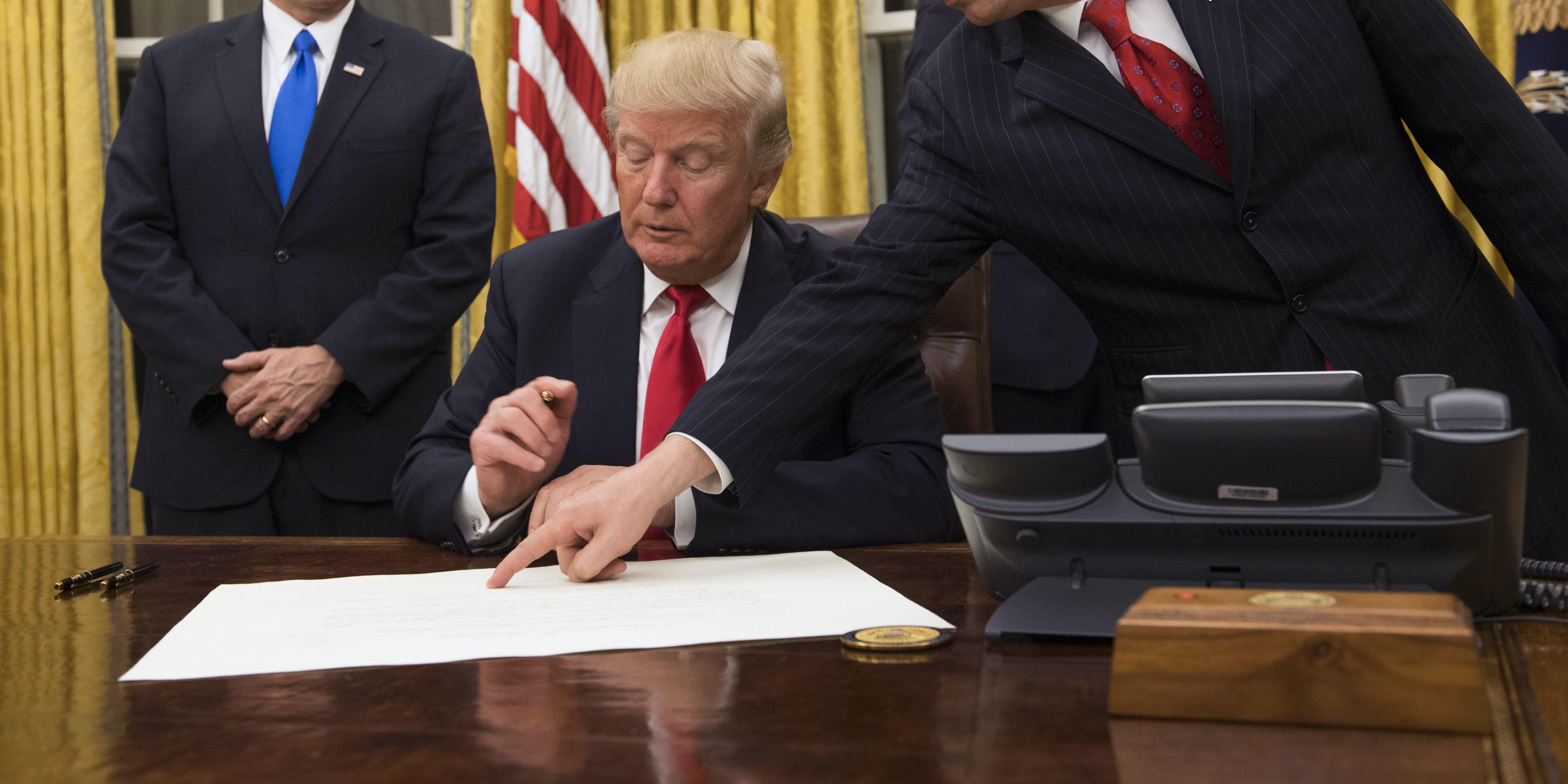 Trump signing executive orders