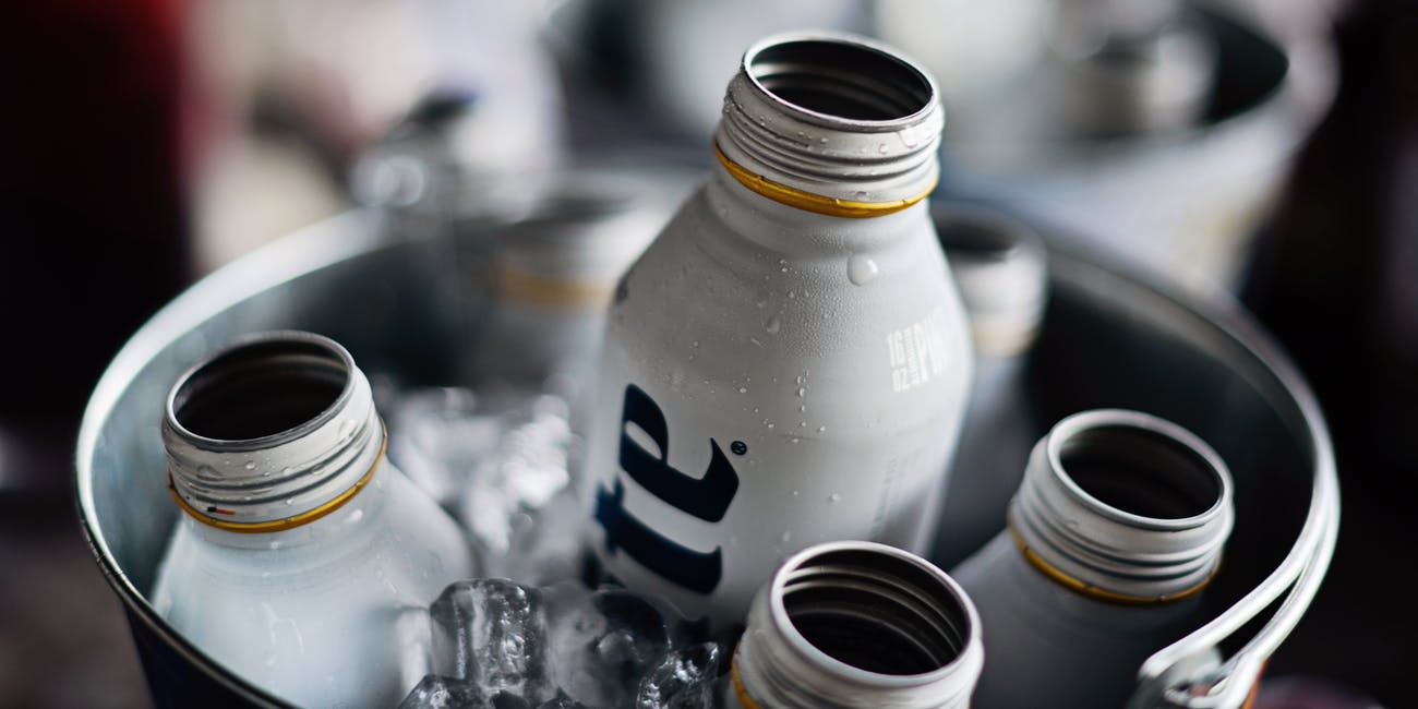 Aluminum drink containers are often lined with plastics that include BPF or BPS, chemicals that have been shown to not be much of an improvement over the BPA they replaced.