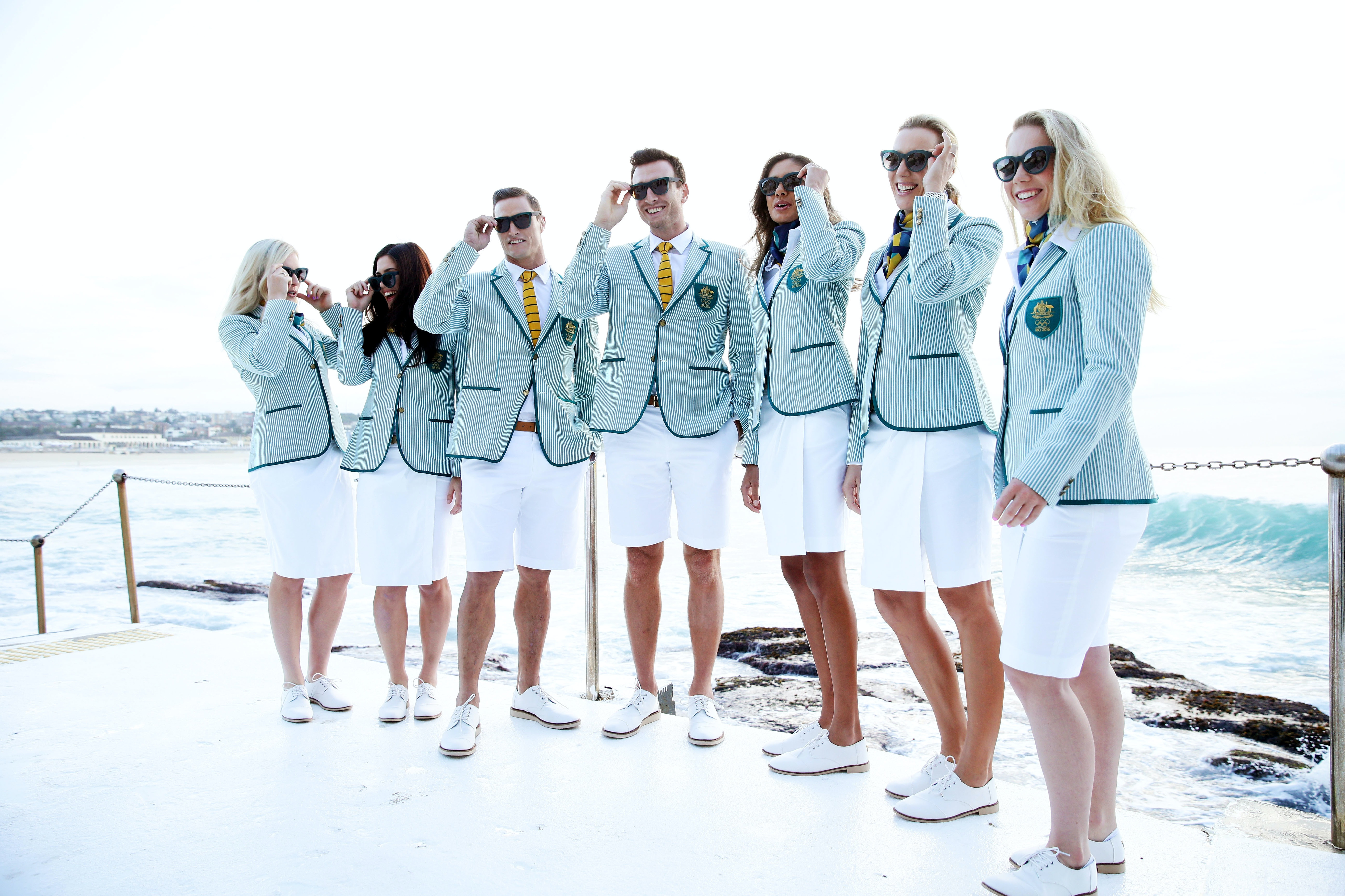 Who knows what it means for the Australians in their green stripy blazers and yellow ties.