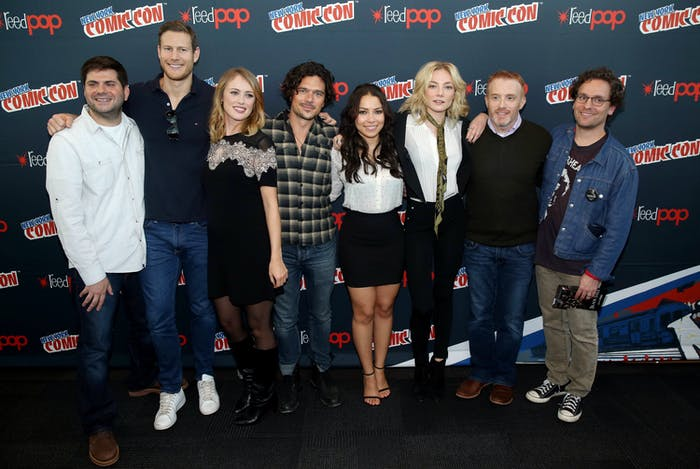 Dan Shotz, Tom Hopper, Hannah New, Luke Arnold, Jessica Parker Kennedy, Clara Paget, Jonathan Steinber, and Robert Levine