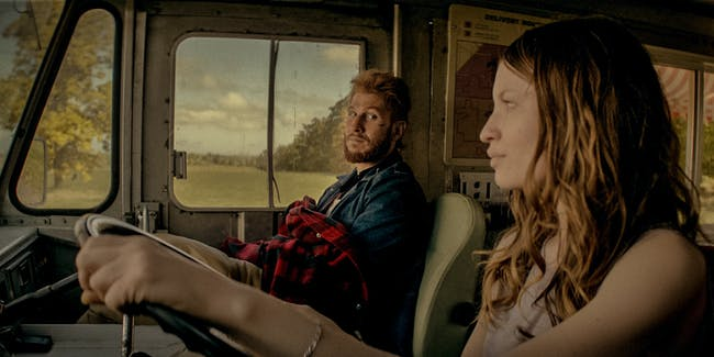 """Laura Moon and Mad Sweeney' in  'American Gods' episode 7, """"Prayer for Mad Sweeney'"""