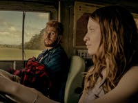 "Laura Moon and Mad Sweeney' in  'American Gods' episode 7, ""Prayer for Mad Sweeney'"