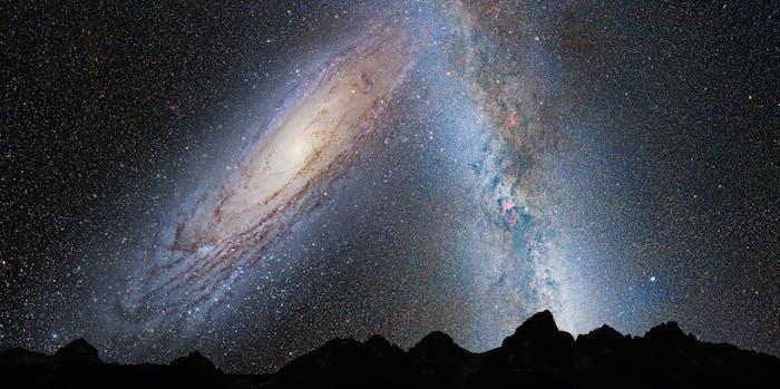 Andromeda and the Milky Way galaxies