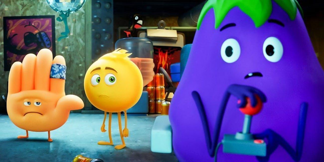 emoji movie eggplant