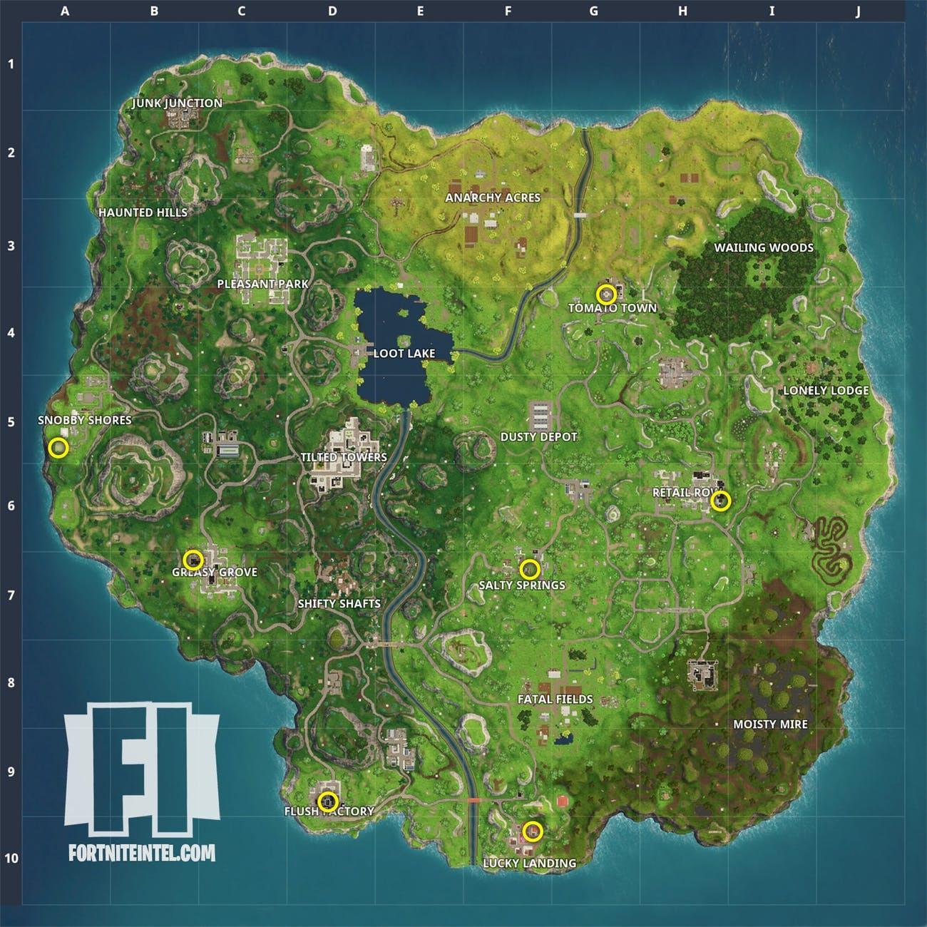 Gnomes pop up in several named locations around the map in 'Fortnite'.