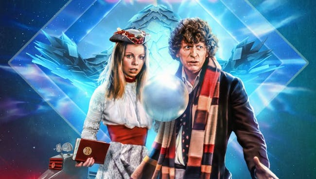 """Romana and the 4th Doctor in """"Shada""""."""
