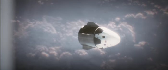 Crew Dragon Capsule, animated