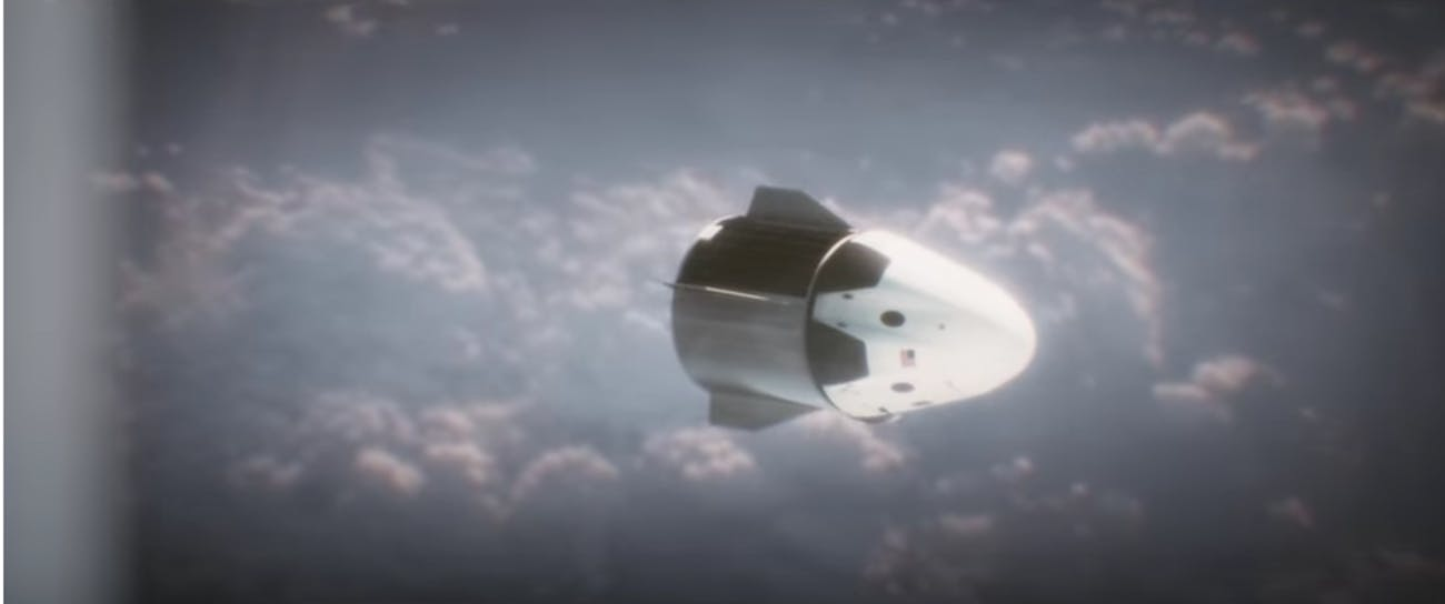 Crew Dragon Capsule, animated