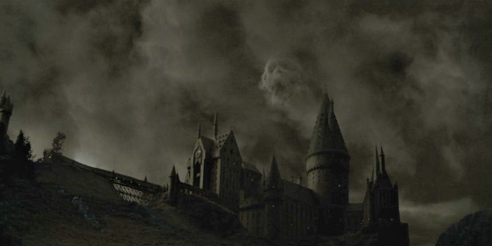 The Dark Mark over Hogwarts symbolized the success of the Death Eaters' coup.